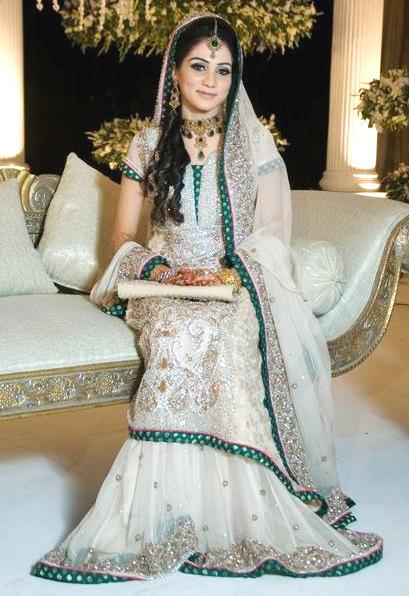 Walima dresses for pakistani brides pictures