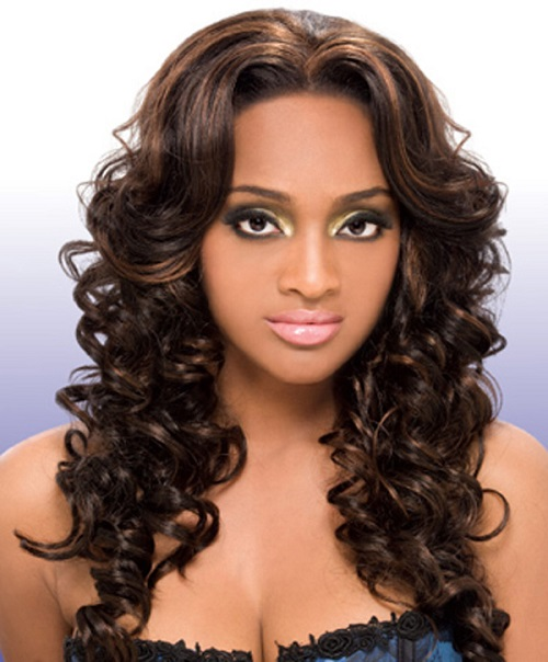 Curly Wavy Hairstyles for Black Women 0012
