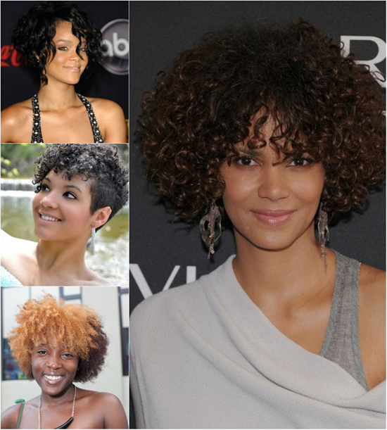 Curly Wavy Hairstyles for Black Women 004