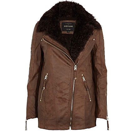 Winter Leather Jackets Trends 2013 For Women 006