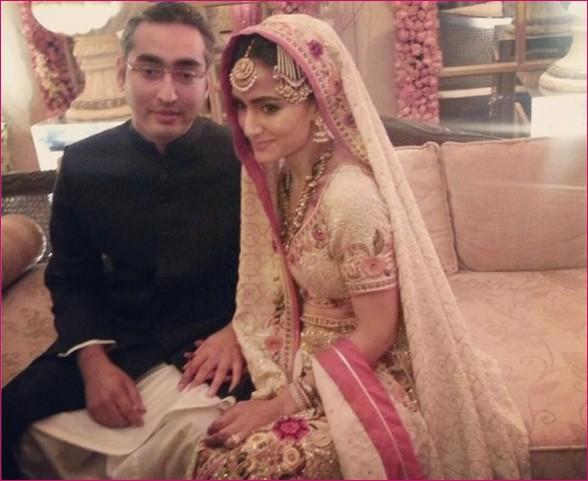 Pakistani Fashion Designer Misha Lakhani Wedding Pictures