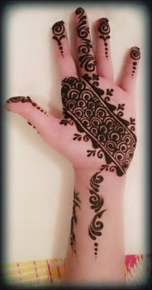 Simple Mehndi Designs For Girls 0011