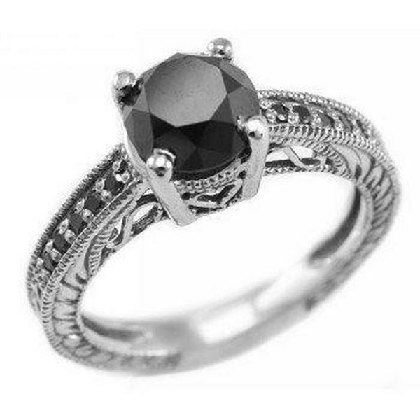 Black Diamond Rings For Women 1 - Life n Fashion