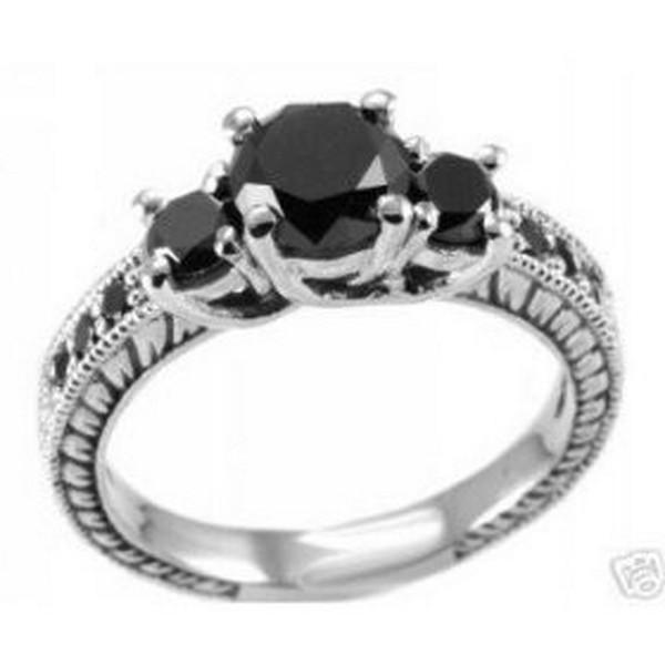 Black Diamond Rings For Women 6 - Life n Fashion