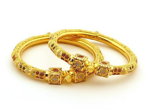 Gold Bangle Designs 2014 For Women 005 Life N Fashion