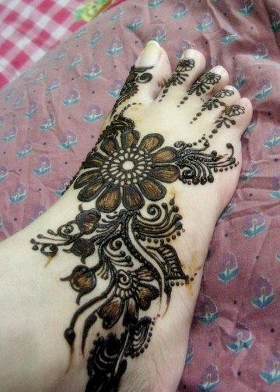 Latest Foot Mehndi Designs 2014 For Girls 13 Life N Fashion