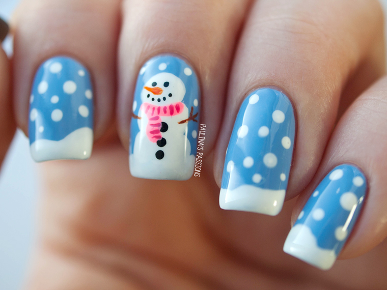 Nail art 2014 trends for women life n fashion creating a snowman prinsesfo Choice Image