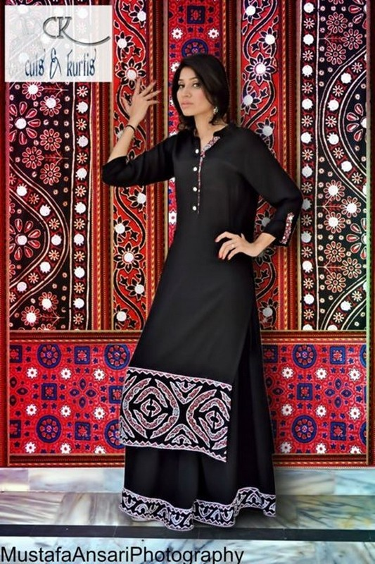 Latest Tops For Girls In Fashion 2014 Latest Ajrak Dresses F...