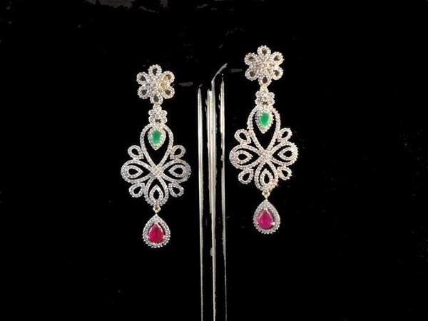 Latest Designs Of Diamond Earrings For Girls 2014 5