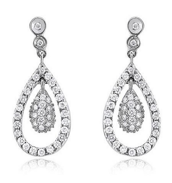 Latest Designs Of Diamond Earrings For Girls 2014 7 - Life ...