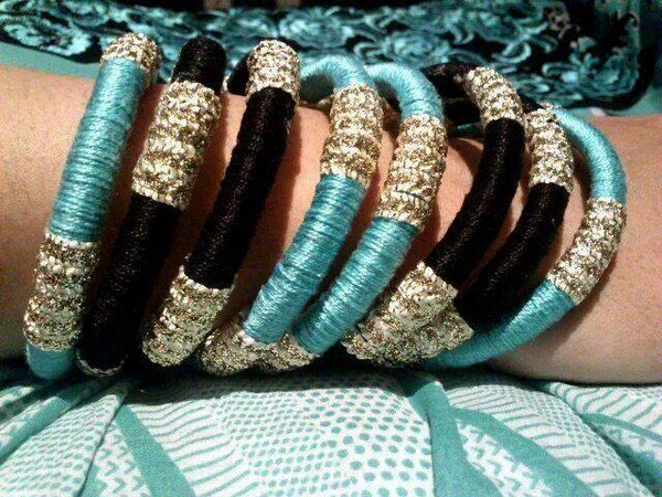 Latest Hand Made Bangles For Girls 2014 13 - Life n Fashion