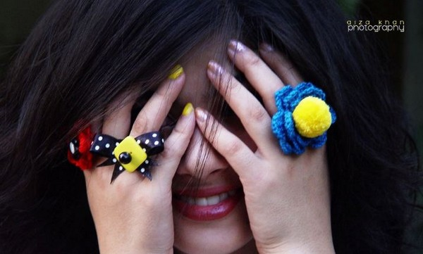 Latest Trend Of Big Artificial Rings For Girls 8