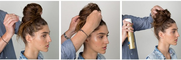 How To Make A Quick Messy Bun 4