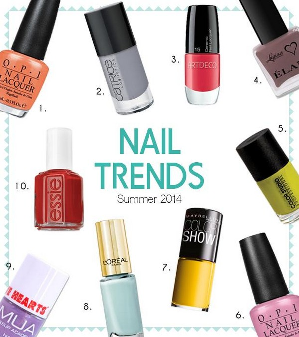 Nail Color Trend: Latest Nail Color Trend For Summer 2014