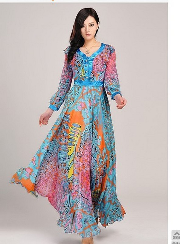 Ideas Long Sleeves Maxi Dresses Summer