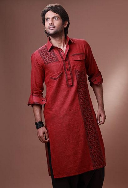 Mens Kurta Embroidery Designs Pakistani