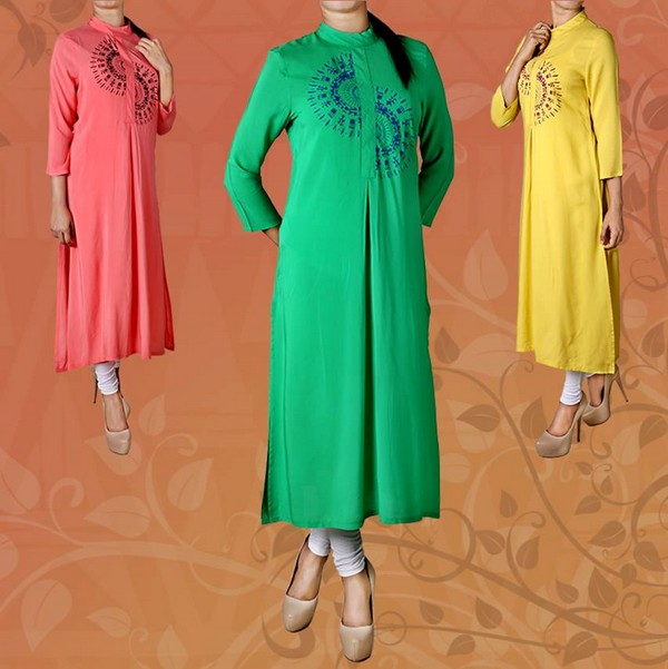 Stylish Long Kurta Trend Girls Life Fashion