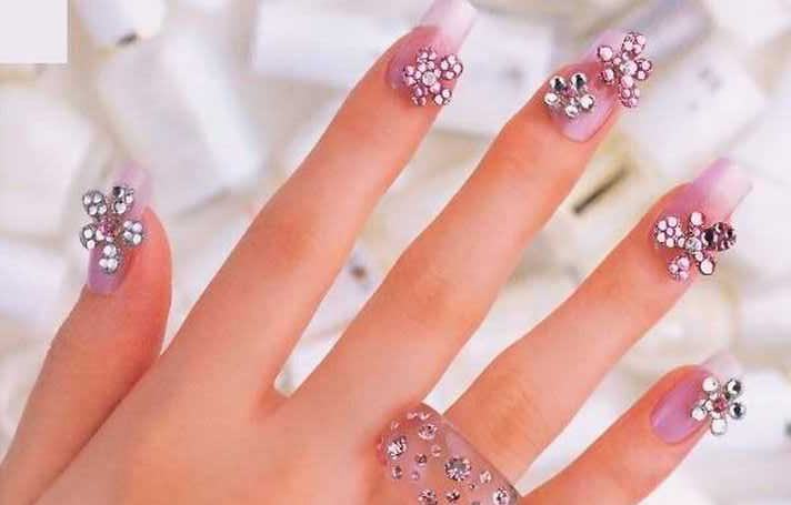 Rhinestone Nail Art Designs 2014 For Summer Season 0011 Life N Fashion