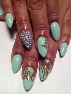 rhinestone nail art designs 2014 for summer season 009