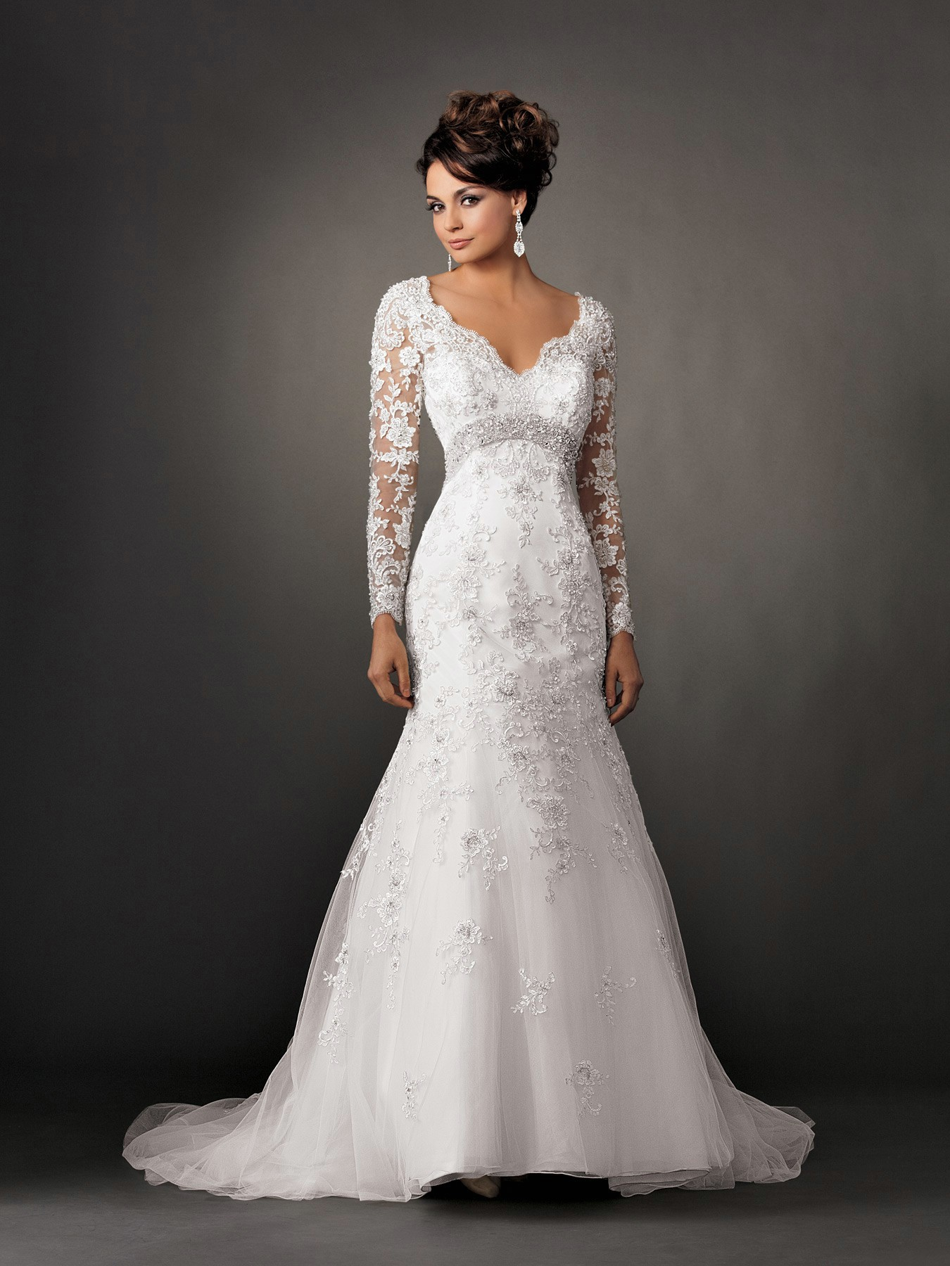 Basic and main types of wedding dresses with sleeves 009 for Website for wedding dresses