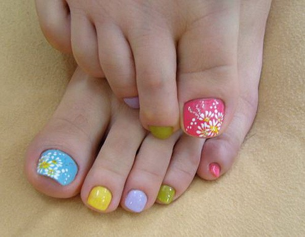 Latest Toe Nail Art Designs For Eid 2014