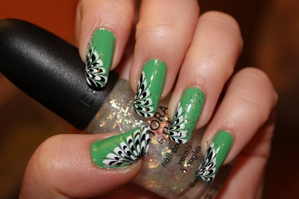 Peacock Nail Art Ideas For Summer 2014 10 Life N Fashion