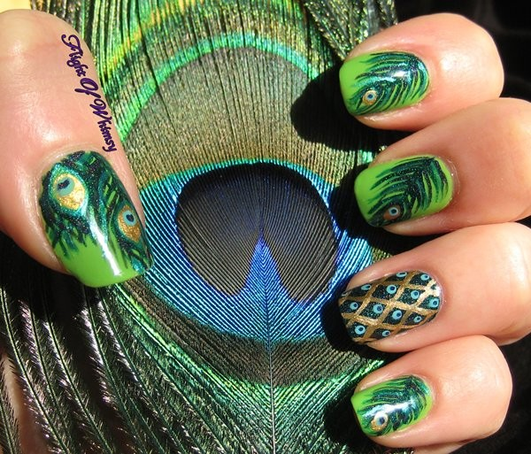 Peacock Nail Art Ideas For Summer 2014 Life N Fashion