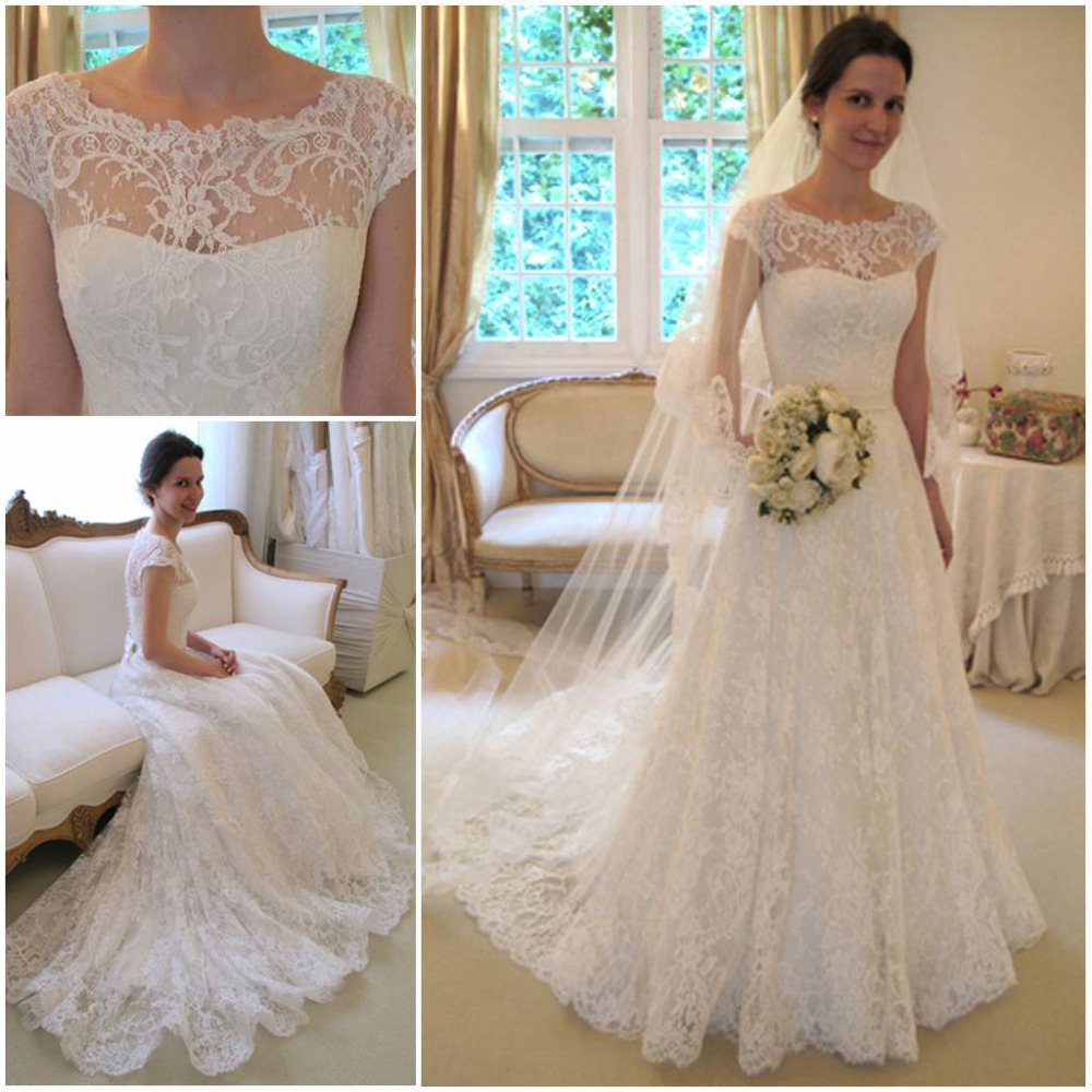 Trends Of Wedding Gowns With Short Sleeves 0014
