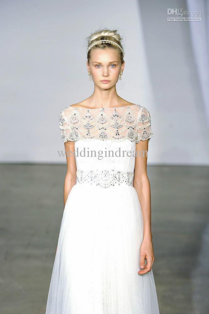 Trends of wedding gowns with short sleeves 0015 life n for Wedding dresses short brides