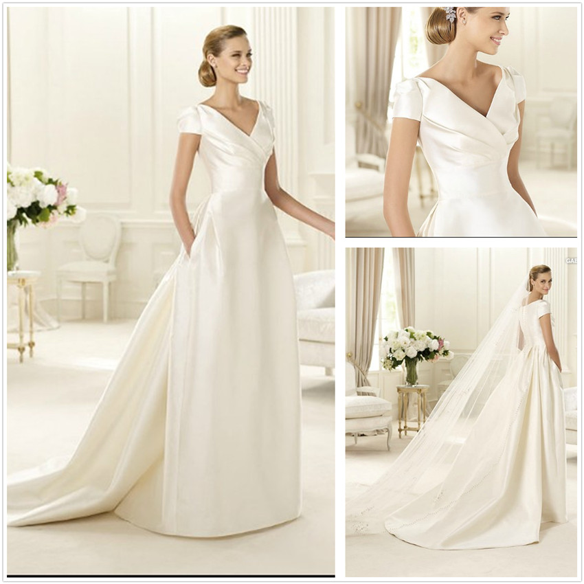 Latest Trends And Styles Of Short Sleeves Wedding Gowns - Life n Fashion