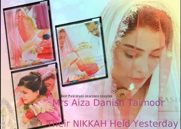 Ayeza Khan and Danish Taimoor Nikah Pictures 9