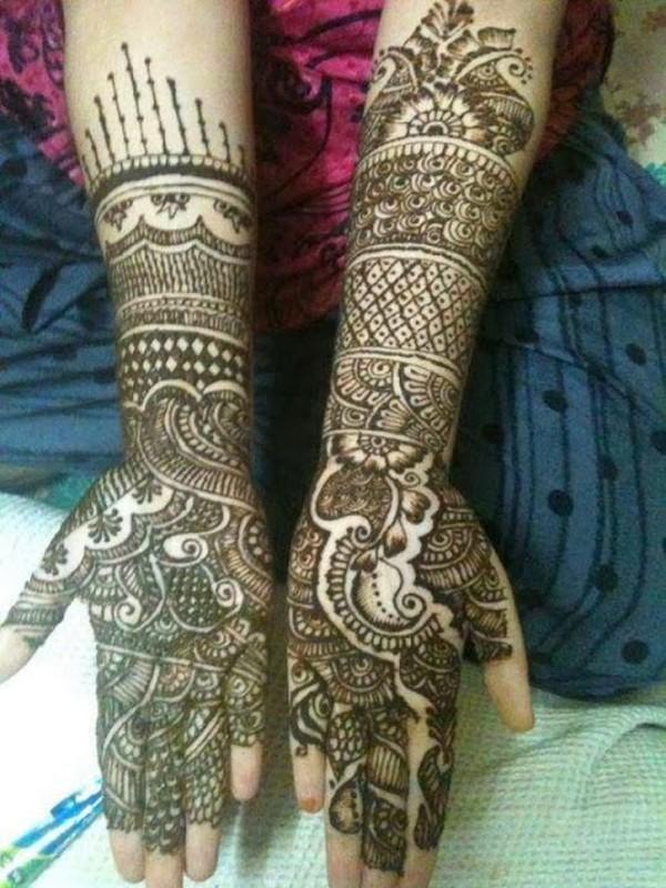 Beautiful Bridal Mehndi Designs For Hands 2014 12