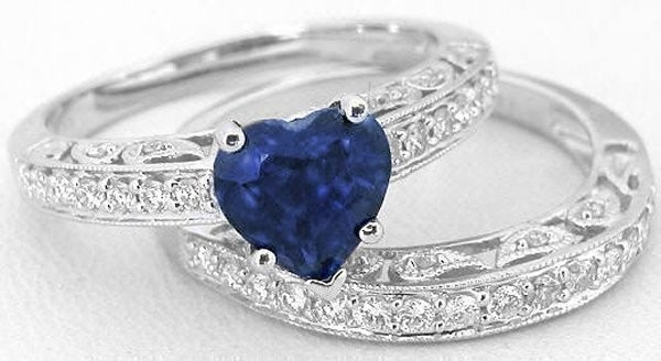 Latest Designs Of Wedding Sapphire Rings For Women 2014 3