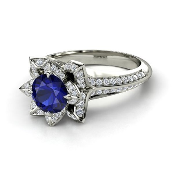 Latest Designs Of Wedding Sapphire Rings For Women 2014 9