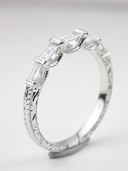 Wedding Ring Designs With Baguettes
