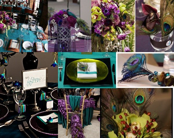 Unique Peacock Wedding Decorations Ideas 005