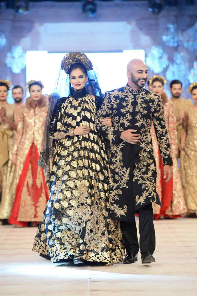 HSY Bridal Dresses At PFDC LOreal Paris Bridal Week 2014 008