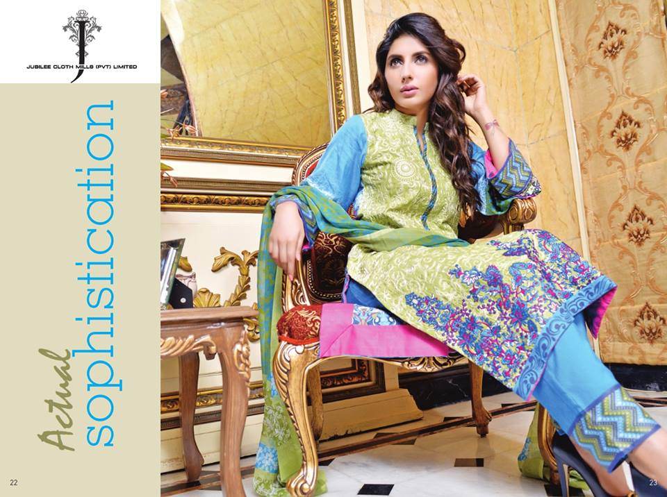 Jubilee Cloth Mills Autumn Collection 2014 For Women009