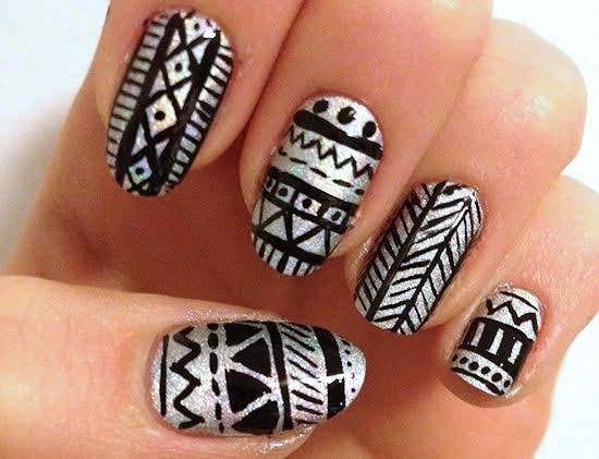 Easy Tribal Nail Art Designs And Ideas006 Life N Fashion