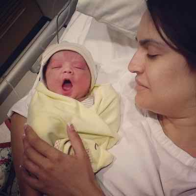 Pakistani model Nadia Hussain Blessed with a Baby Boy